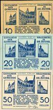 439924) Österreich 3 verschiedene Notgeldscheine aus Hagenberg