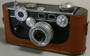 Argus Brick 35mm Rangefinder Camera w/ 50mm F3.5 Cintar Lens & Leather Case