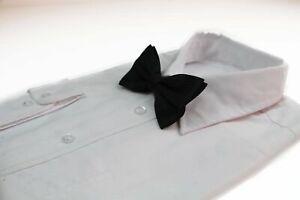 Mens Black Polka Dot Patterned Bow Tie