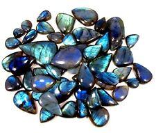 RT-4080  Natural Blue Labradorite Cabochon Wholesale Lot 1000 Cts/30 Pc