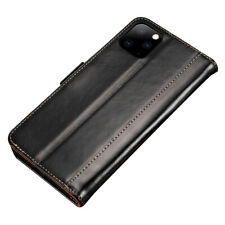 Luxury PU Leather Magnetic Flip Case Card Holder For iPhone 11 - Black