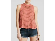 Free People Ferris Wheel Open Back Top Beaded Sequin Embellished Blouse XS NWT
