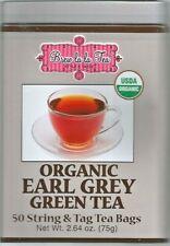 Brew La La Tea Organic Earl Grey Green Tea 50 String & Tag Tea Bags 2.64 oz