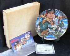 """Jose Canseco Plate Oakland A's Gold Edition#1596 COA 10.5"""" Collector's Plate NIB"""