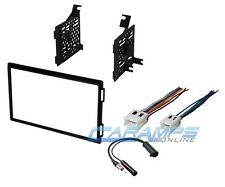 NEW DOUBLE 2 DIN CAR STEREO RADIO DASH INSTALLATION TRIM KIT W/ WIRING HARNESS