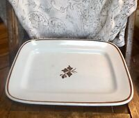 Vintage Royal Ironstone China Alfred Meakin England Tea Leaf Serving Tray