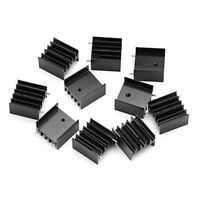 10pcs Aluminum Heatsink Heat Sink With Screw Sets Kits Transistors TO-220 BBC