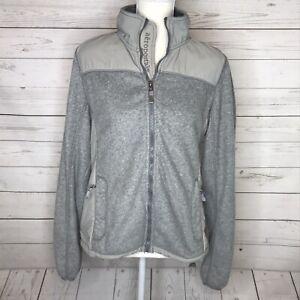 Aeropostale Womens Jacket Full Zip Fleece Zipper Pockets Gray L Large
