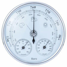 Analog wall hanging weather station 3 in 1 barometer thermometer hygrometer xjBC