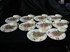 Vintage Set of 10 Blue Ridge Luncheon Plates with Matching Cups Nr. Mint