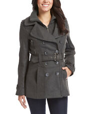 Size M NWT Charcoal Belted Peacoat