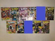 Uncanny X-Men 9 Comic Lot 243,245,247,250,252,253,255,257,259