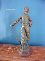 """Grande Statue en régule """"CHAMPION DE TIR"""" par LOUIS MOREAU"""