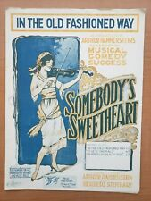 Vintage Piano Sheet Music In The Old Fashioned Way