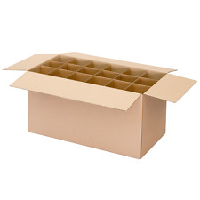 5 x Moving Boxes Kitchen Cardboard Box with Dividers Storage Cartons- A Grade
