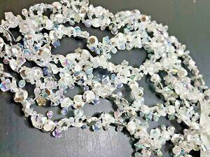 2.7M Christmas Beaded Garland Crystal Chain Diamante Bauble Tree Decoration Xmas