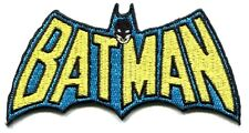 BATMAN yellow/blue logo Embroidered IRON-ON PATCH dc comics FREE SHIPPING pdc9