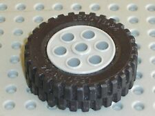 8x Lego plaque 2 x 2 with Wheels holder large en Noir pièce Nº 6157