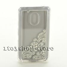 Ballistic Jewel Essence Hard Case Cover for Motorola G4 Play Clear/Sliver USED