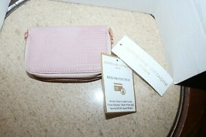 Adrienne Vittadini Studio RFID protection pink wallet NWT pale pink snake