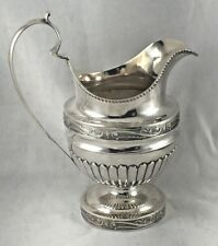 American Coin Silver 1830's Decorated Milk Jug