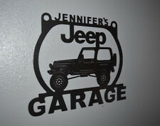 Jeep Wrangler Metal Garage sign Personalized Custom shop sign