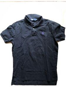 Ralph Lauren Polo Black Classic Fit Polo Collared Short Sleeve Shirt Purple Logo