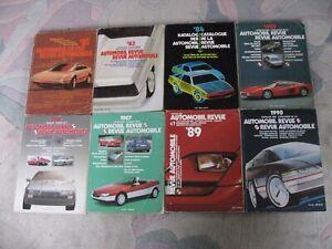 Konvolut 8 Kataloge  der Automobil Revue 1981-1990