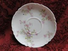 "Haviland (Limoges) Schleiger 29, Blank 1, Pink Flowers: Saucer (s) Only, 5 1/2"""