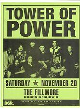 "Tower Of Power 2004 The Fillmore 8"" x 11"" paper Flyer / Handbill cLEAn original"