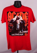 AC/DC Live At River Plate Shirt Men's Large Red Graphic Adult Shirt New ST153
