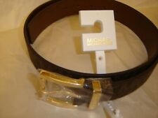 BEAUTIFUL WOMEN'S MICHAEL KORS BROWN BELT WITH GOLD BUCKLE SIZE L NEW WITH TAG