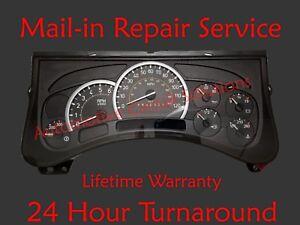03-06 Hummer H2 Instrument Gauge Cluster Dash Speedometer FULL REPAIR SERVICE