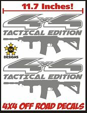 4x4 Truck Decal Set METALLIC SILVER Ford F150 Super Duty F250 Tactical AR15 M4