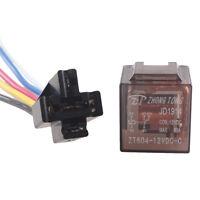 Car 12V 12 Volt DC 80A AMP Transparent Relay & Socket SPDT 5Pin 5 Wire Sales HB