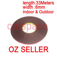 3M Double Face Sided Tape 6mm 33 Meters for Indoor Outdoor sign LED lights OZ