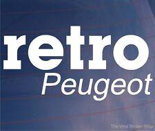 Retro PEUGEOT Nouveauté CLASSIC VINTAGE VOITURE / FOURGONNETTE / fenêtre / pare-chocs Autocollant Vinyl / autocollant