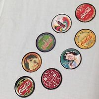 Coca-Cola Collect A Card Coke Cap Series One 1 Complete Set 8 Pogs Trading Discs