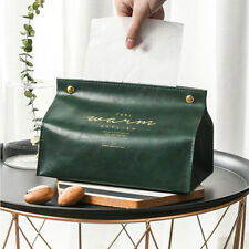 Nordic Leather Tissue Box Paper Dispenser Holder Case For Office Home Decoration