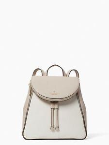 kate spade new york Jackson Leila Colorblock Medium Flap Backpack  warm beige