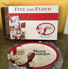 Fitz and Floyd Letters to Santa Sentiment Tray - In Original Box