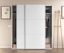 ARM 2 Door Sliding Wardrobe 150cm-180cm Large White Smoothglide Optional Drawer