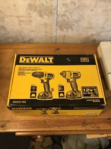 DEWALT DCK211S2 12V Impact Driver and Drill Combo Kit 2 Battery New Open Box
