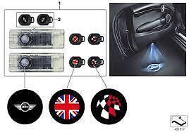 Door Projector Set LED Genuine Mini R50 R56 R53 Clubman F55 F56 63312414106