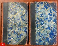 Sporting Sketches Fishing Duck Hunting 1842 Frank Forester set 2v leather books
