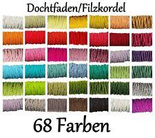 ab 0,26 €/1m 🌸Dochtfaden💐 Filzschnur Filzkordel Wollfaden Wollkordel Filzband