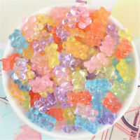 40-pack Mixed Resin Cartoon Bear Cabochon Charms 11x17mm Craft Making Decors