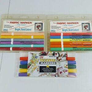 Lot of 3 Zig & Marvy Uchida Fabric Marker Fine Point 522-6A & 522-6B Brand New.