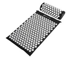 ProsourceFit Acupressure Mat and Pillow Set for Back/Neck Pain  Black