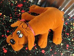 Tonka Pound Puppies Brown Plush Dog with Collar and Nametag